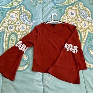 f21 bell sleeved blouse